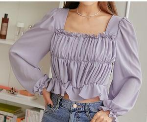 asian fashion, blouse, and korean fashion image