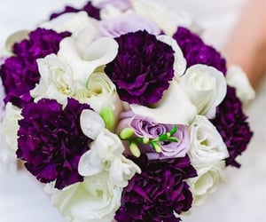 bouquet, marriage, and peonies image
