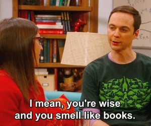 big bang theory, books, and compliment image