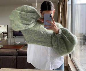 fashion, girl, and sweather image