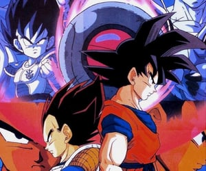 dragon ball z, vegeta, and goku image