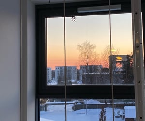 window, winter, and photography image