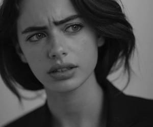 black and white, girl, and confused image