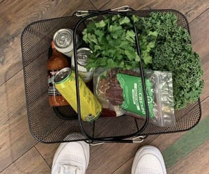 food, healthy, and shopping image