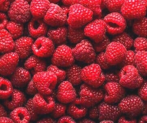 berries, food, and raspberry image