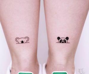 bear, panda, and tattoo image