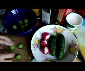 cucumber, video, and yoghurt image