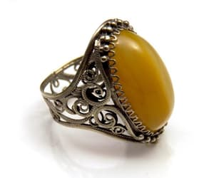 1950's, big stone ring, and etsy image