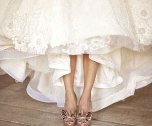 shoes, wedding, and wedding dress image