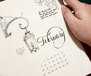 february, bujo, and journaling image