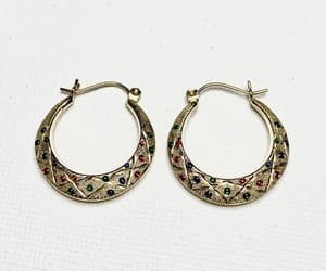 etsy, hoop earrings, and holiday sparkle image