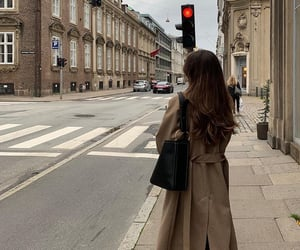 bag, hair, and coat image