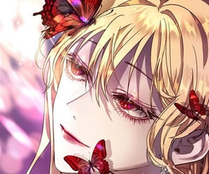 butterfly, female, and pretty image