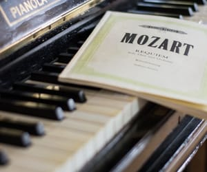Mozart, music, and piano image