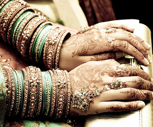 bangles, henna, and indian image