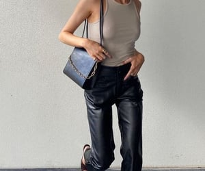 bag, jeans, and look book image