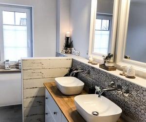 bath, bathroom, and Scandinavian image