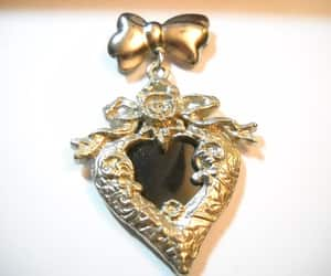 etsy, heart picture, and vintage lockets image