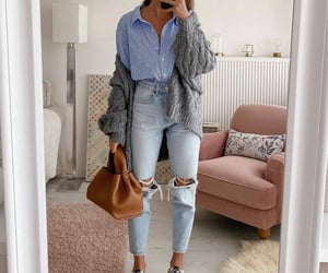 bag, jeans, and cool image