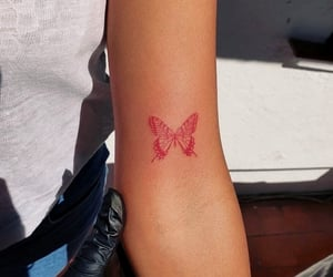 tattoo, butterfly, and fashion image