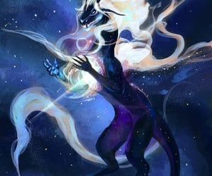 digital art, space, and mystical creature image