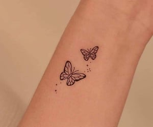 butterfly, small, and sparkles image