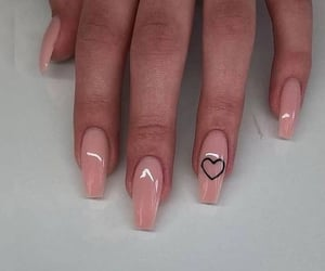 heart, nails, and Nude image