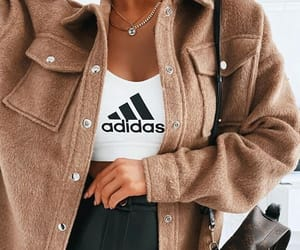 fashion, jacket, and adidas image