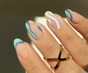 minimalistic, nails, and blue image