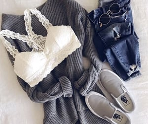 bralette, fashion, and grey image