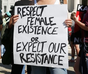 female, model, and respect image