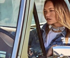 car, Gemma Ward, and vintage image