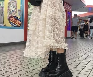 alt, aesthetic, and maxi skirt image