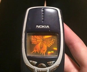 aesthetic, nokia, and butterfly image