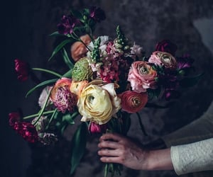 aesthetic, bouquet, and bridal image