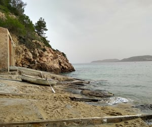 sea, ibiza, and winter image