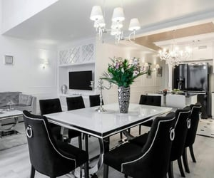 chairs, kitchen, and dining room image