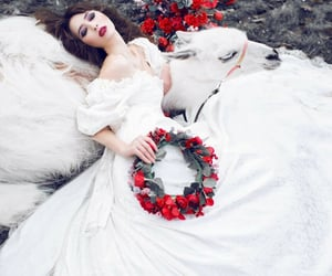 flores, menina, and ensaio fotográfico image