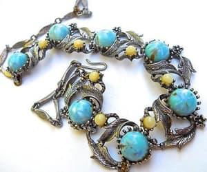 Art Nouveau, floral necklace, and faux pearls image