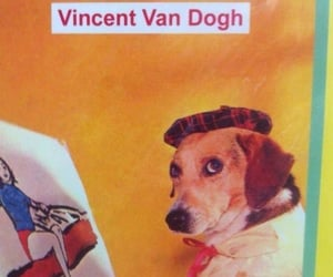 art, dog, and artist image