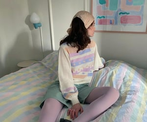colors, green, and outfit image