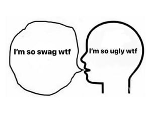 depressed, fml, and lol image