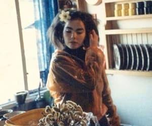 bjork, messy hair, and flower image