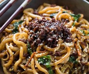 chinese food, mushroom, and asian food image