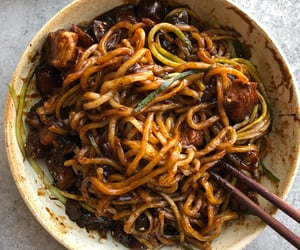 noodles, korean food, and asian food image