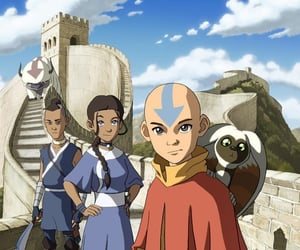 avatar, girl, and aang image