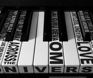music, piano, and Across the Universe image