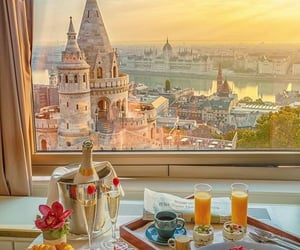 breakfast, food, and budapest image