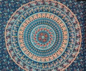 etsy, blue tapestry, and bohemian tapestries image