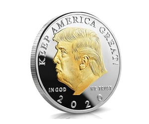 coin, president, and trump image